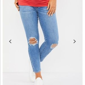 Paige Verdugo Ankle Side Panel Maternity Jeans